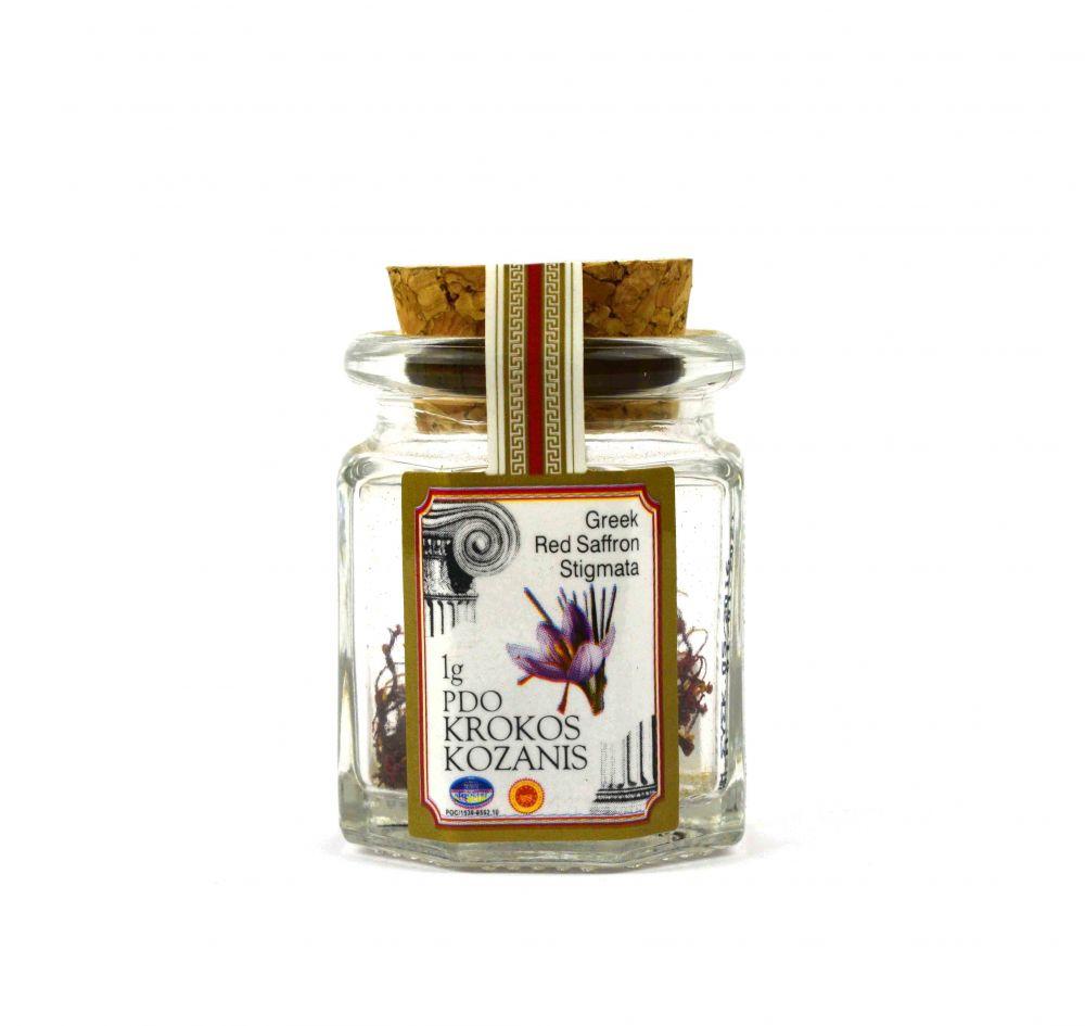 Κρόκος Κοζάνης - Saffron Στήμονες 1gr Γυάλινο