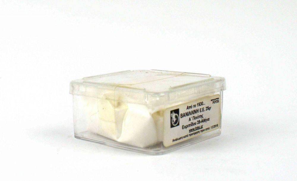 Βανιλλίνη σε πούδρα σε πλαστικό κουτάκι 25γρ.