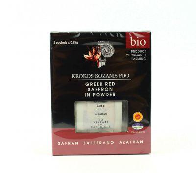 Κρόκος Κοζάνης - Saffron Σκόνη BIO 1gr