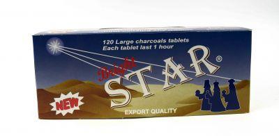 Καρβουνάκια θυμιάματος αστέρι STAR (μεγάλου μεγέθους 20x6)